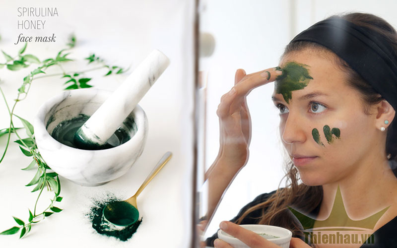 Mặt nạ tảo xoắn Spirulina trị nám dưỡng da