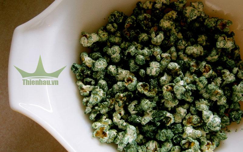 Món ăn từ tảo Spirulina - Bắp rang bơ