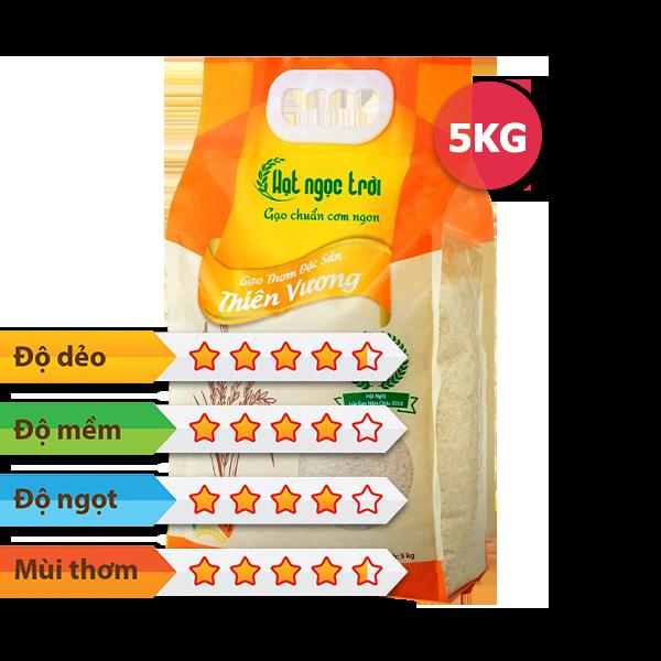 Gạo Hạt Ngọc Trời Thiên Vương 5kg