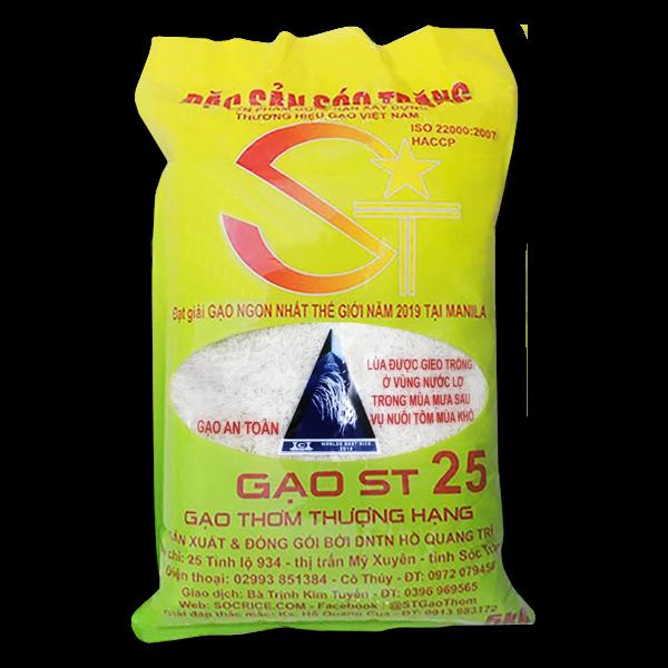 Gạo ST25 lúa tôm chính hãng túi 5kg